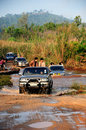 4WD Crossing River Royalty Free Stock Photo