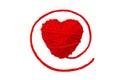 Wełna hearts-1 Obrazy Stock