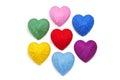 Wełna hearts-10 Obrazy Stock