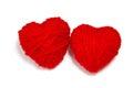 Wełna hearts-2 Obraz Stock