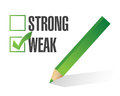 Weak over strong selection illustration design white Stock Images
