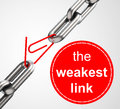 The weakest link d generated picture of a concept Royalty Free Stock Image
