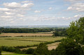 The weald of kent view across england Stock Photography