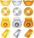 Wealth design elements set illustration Royalty Free Stock Photos