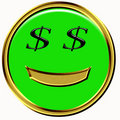 Wealth emoticon Stock Photo