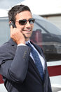 Wealthy businessman wearing trendy sunglasses Stock Photography