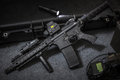Weapon assault rifle Royalty Free Stock Photo
