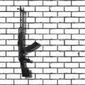Weapon - Assault rifle white brick wall