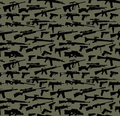 Weapon seamless background green Royalty Free Stock Photography