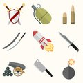 Weapon vector icon set this is file of eps format Royalty Free Stock Photo
