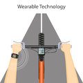 Wearable technology with smart watch and bike handlebar