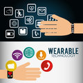 wearable technology smart watch infographic flyer