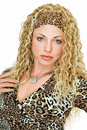 Wearing in leopard tone Royalty Free Stock Photo