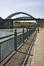 Wearmouth bridges in sunderland uk looking away from national glass centre and university Stock Photos