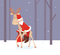 Weary santa claus the color illustration Royalty Free Stock Images