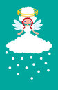 Weather Angel Snowy Stock Images