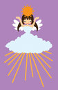 Weather  Angel sunny Stock Photo