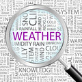 Weather background concept wordcloud illustration print concept word cloud graphic collage Royalty Free Stock Image