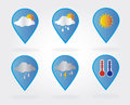 Weather bubbles over white background vector illustration Stock Photos