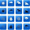 Weather buttons Stock Photography