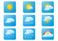 Weather buttons Stock Image