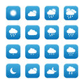 Weather buttons collection of blue Stock Images
