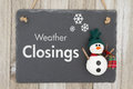 Weather closing sign Royalty Free Stock Photo