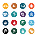 Weather Color Icons Royalty Free Stock Photo