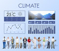 Weather condition news report climate forecasting meteorology te temperature concept Stock Image
