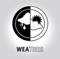 Weather design over gray background vector illustration Royalty Free Stock Images