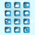 Weather forecast banners buttons weather symbol symbols illustration Royalty Free Stock Images
