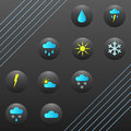 Weather forecast buttons picture of several that show Stock Image