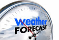 Weather Forecast Clock Time Planning Ahead Royalty Free Stock Photo