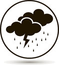 Weather forecast. Clouds of rain and thunder. Cloud thunderstorm