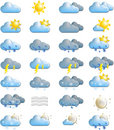 Weather Forecast Icons Royalty Free Stock Photo