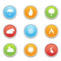 Weather forecast symbols Stock Images