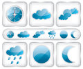 Weather glass icons illustration Royalty Free Stock Photos