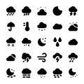 Weather Glyph Icons Set 1