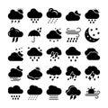 Weather Glyph Icons Set