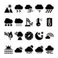 Weather Glyph Icons Set 2