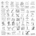 Weather hand draw element  Royalty Free Stock Image