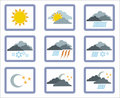 Weather icon 1 Stock Photo