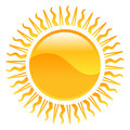Weather icon clipart sun illustration a Stock Image