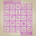 Weather icon doodle set with style Royalty Free Stock Photos