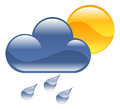 Weather icon illustration a clipart Royalty Free Stock Images
