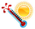 Weather icon illustration a clipart boiling hot thermometer Stock Images