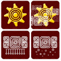 Weather Icon in mayan style Royalty Free Stock Image
