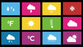 Weather icon metro style set Royalty Free Stock Photos