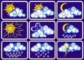 Weather icon set Stock Photos