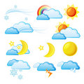 Weather Icon Set. Royalty Free Stock Photo